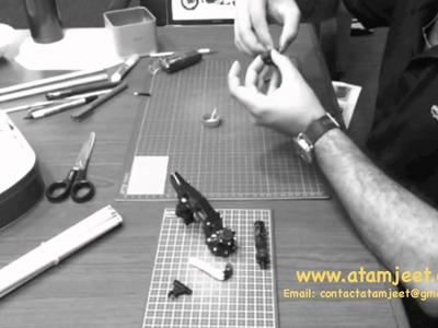 Making of Yamaha VMAX Paper Model by Atamjeet Singh Bawa - www.atamjeet.com
