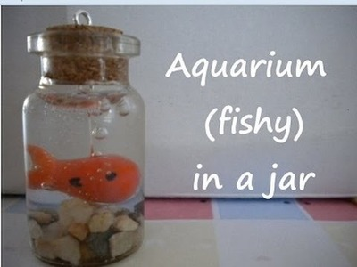 Miniature Bottle Charms: Aquarium (FISHY) in a jar