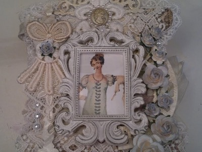 Shabby chic mini album for a special friend, Tresors de Luxe DT project nr 4