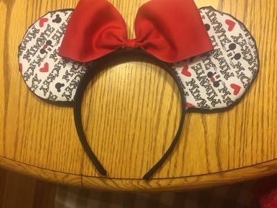 Vlog 5: Mickey Mouse Ear Tutorial!
