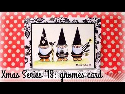 XMAS SERIES: Gnomes card - Duendes navideños