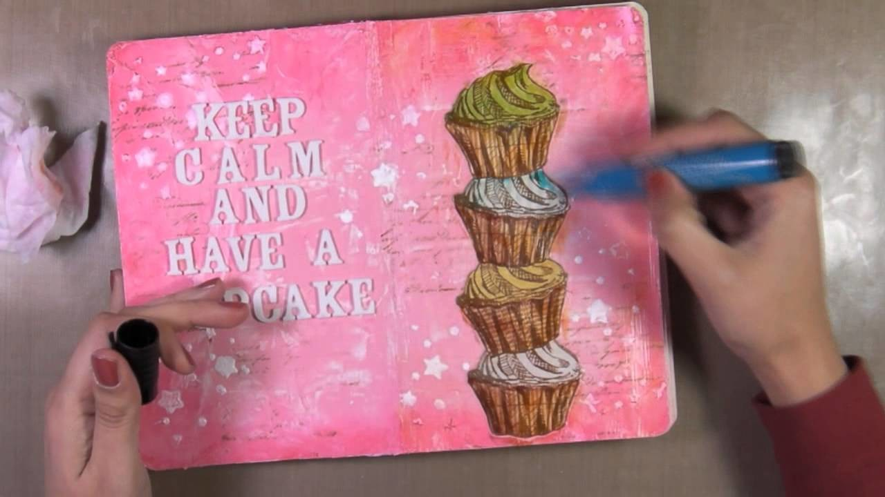 Art Journal Page : Cupcake