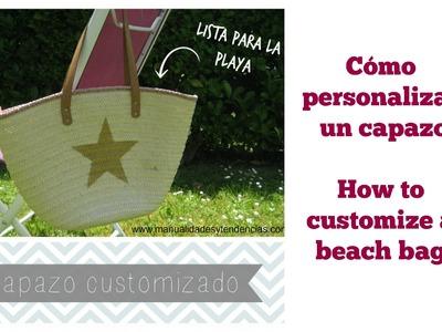 Cómo customizar un capazo.How to customize a beach bag