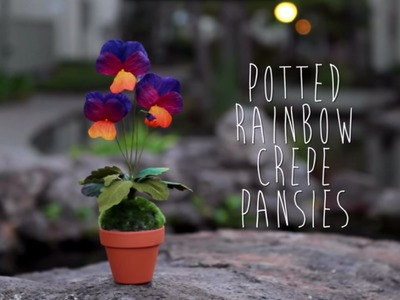 Crepe Paper Pansy Tutorial