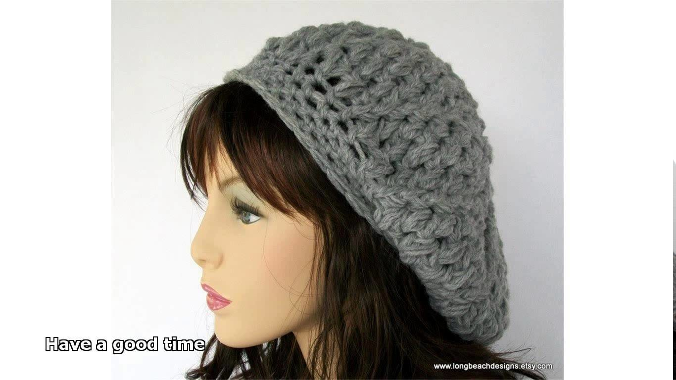 Crochet beret pattern easy