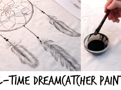 DIY Dreamcatcher T-shirt Painting (Real-Time)