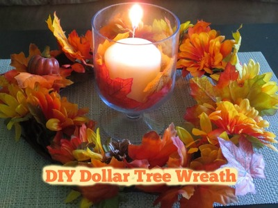 DIY Fall Wreath For under 6.00