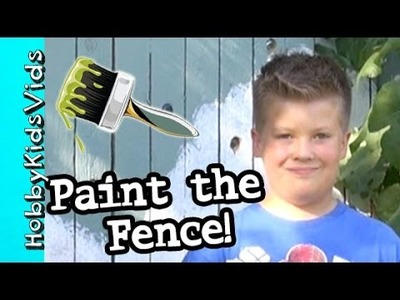 DIY Sparkle Fence + Paint Yard Work! HobbyTiger by HobbyKidVids