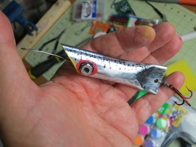 DIY ten cent fishing lure made from conduit pipe