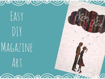 Easy DIY Magazine Art