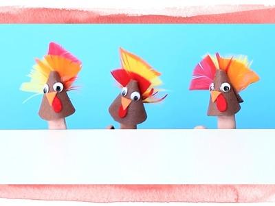 Easy DIY Turkey Finger Puppets