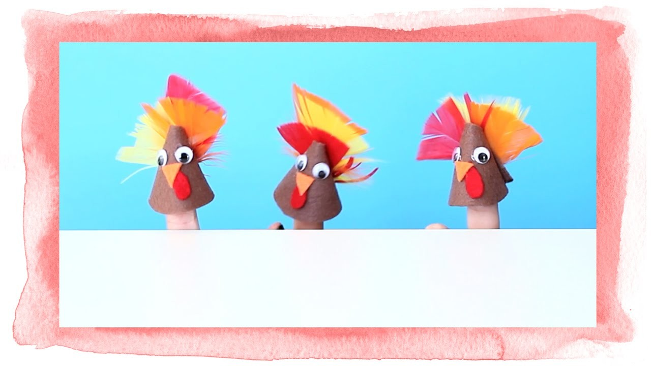 Easy DIY Turkey Finger Puppets