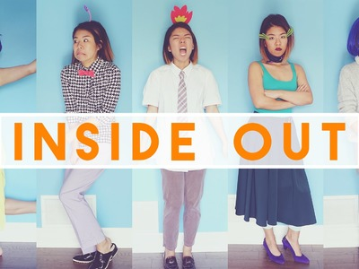 ✂ Easy INSIDE OUT DIY Halloween Costumes