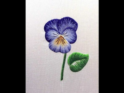 Embroidery How To - Silk Shading Pansy (Viola)
