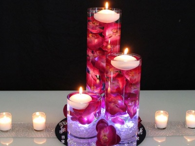 Floating Candle Centerpiece - DIY Wedding Centerpiece