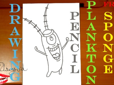 How to draw PLANKTON from Spongebob Squarepants EASY | draw easy stuff, PENCIL, SPEED ART