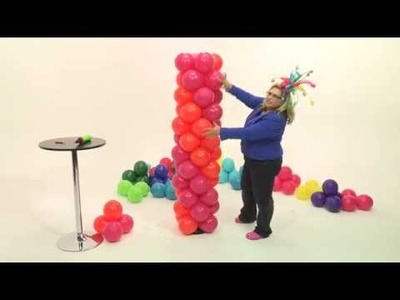 How To Make A Balloon Tower- Slow Spiral Tower