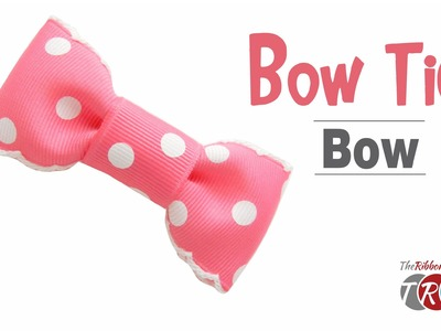 How to Make a Bow Tie Hair Bow  - TheRibbonRetreat.com