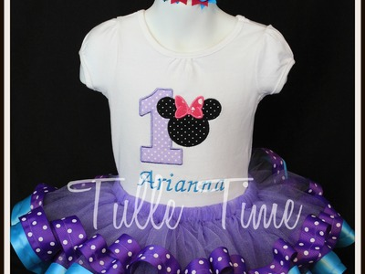 How to make a ribbon trim tutu (Minnie Mouse)