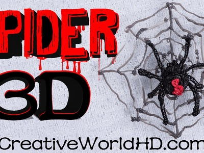 How to Make Spider - 3D Printing Pen Creations.Scribbler DIY Tutorial by Creative World