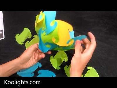 Koolights: How to assemble 32 elements lamp shape