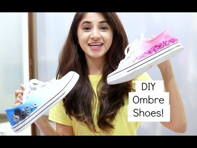 Koovs Goes to College DIY Task - Ombre Shoes! | Aashna Shroff