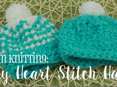 Loom Knitting How to: Tiny Heart Stitch Hat