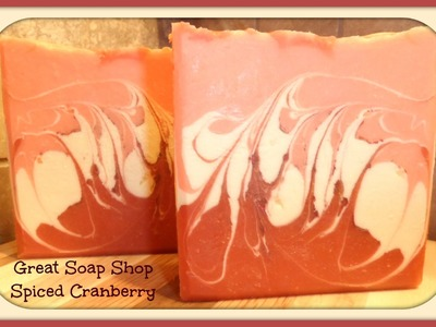 Making Spiced Cranberry Handmade Soap