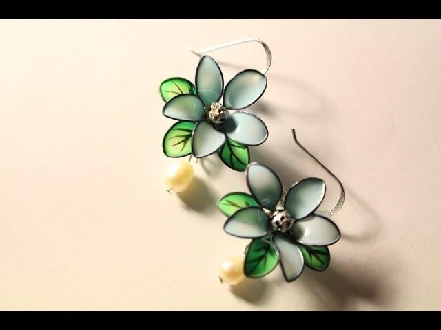 Цветы из лака для ногтей и проволоки