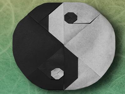 Origami Tai-Chi Symbol (Sy Chen) - Part 1