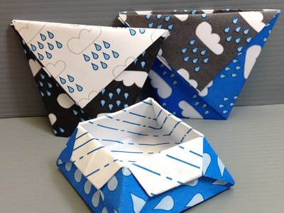 Print Your Own Cute Rain Origami Paper