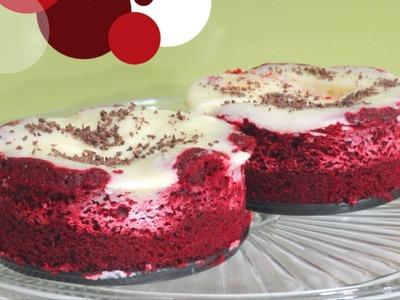 Red Velvet Cheesecake Recipe Video by Bhavna - Eggless Valentine Dessert