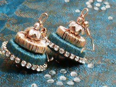 Silk Thread jewellery using Paper Quilling mold -Silk Thread Jumka
