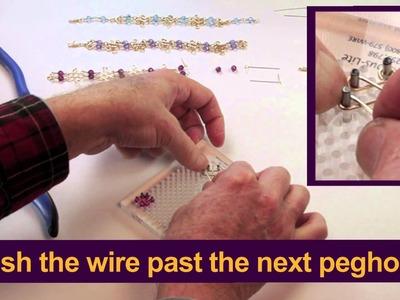 WigJig Video 12 Making a Celtic Knot Crystal Bracelet