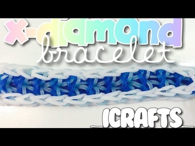 X-Diamond Bracelet | Rainbow Loom Tutorial