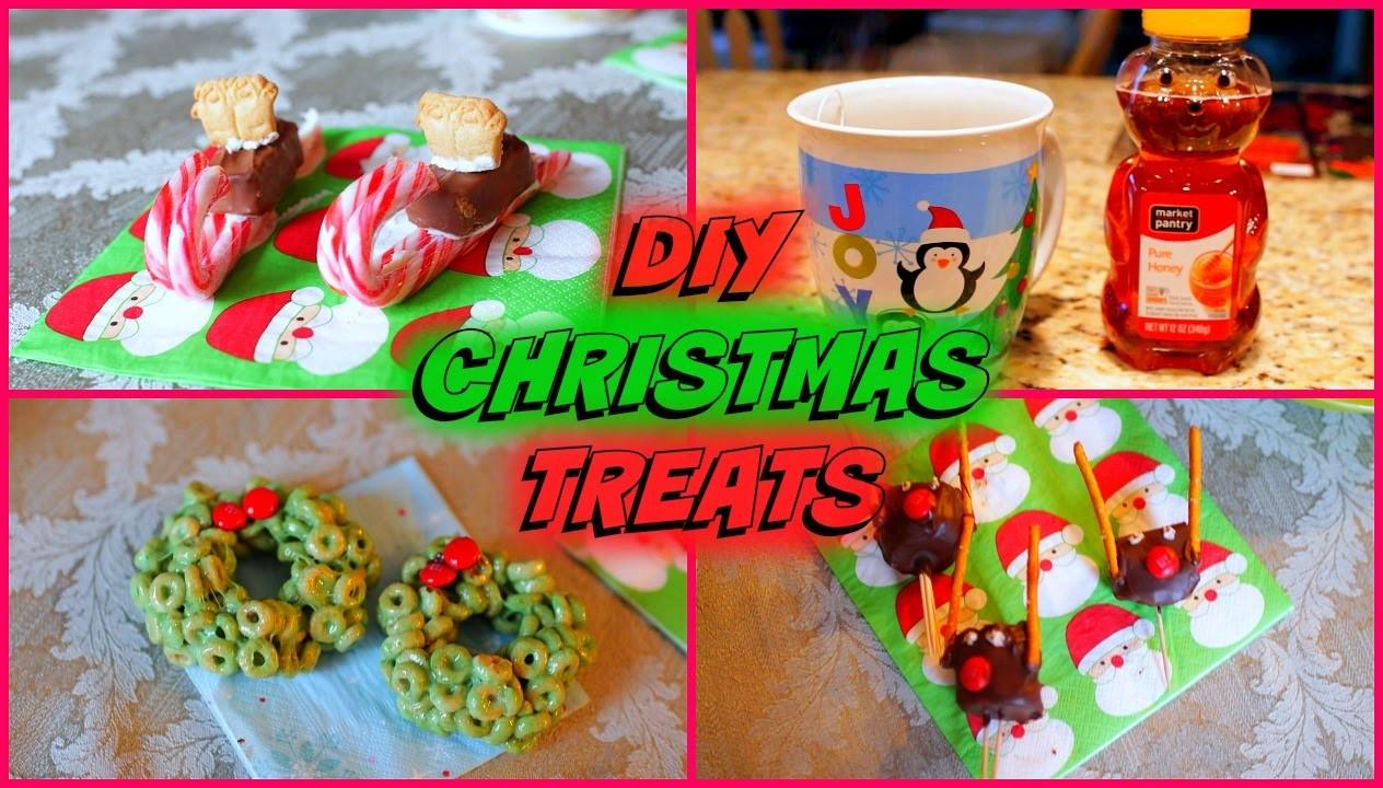 4 Easy DIY Christmas Party Treats! | ft. SeasonBeauty97