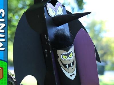 Cardboard Dracula - DIY Halloween Crafts Ideas For Kids | Box Minis on Box Yourself