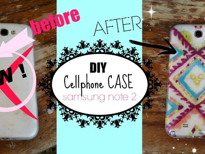 DIY cellphone case ♥ aztec style♥ (samsung note 2)