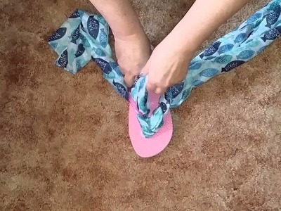 DIY Decorative Flip-flops | Change The Look Of Your Flip-flops | Bargain Hunting Barb