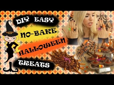 DIY Easy NO BAKE Halloween Treats