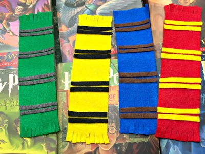 DIY Hogwarts house scarf bookmark (felt fabric)
