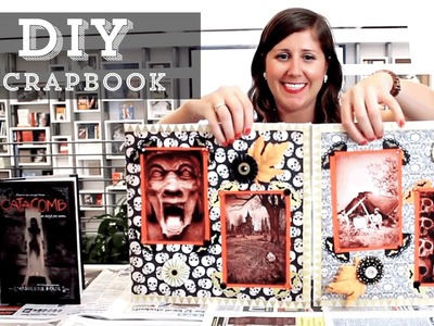 DIY: How to Scrapbook Inspired by Madeleine Roux's Catacomb