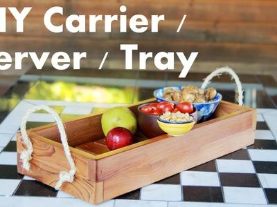 DIY Outdoor Picnic Tray & Table Centerpiece