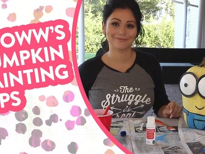 DIY Pumpkin Painting with Jwoww and Meilani