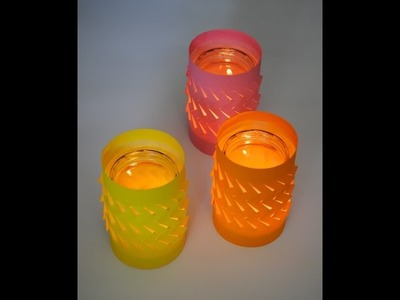 DIY - Tea Light Luminaries. Holders