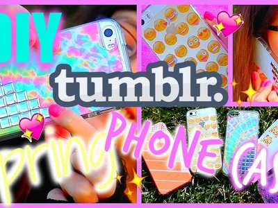 DIY Tumblr.Spring☀Inspired PHONE CASES! | Mish Shelly