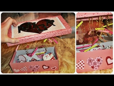 DIY. VALENTINE'S DAY gift box. Caja de regalo. Kutija za poklon