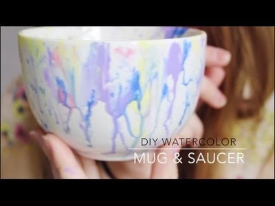 DIY Watercolor Mug & Saucer!