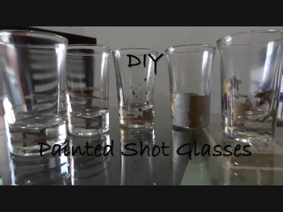 FUN STUFF ~ DIY Painted Shot Glasses