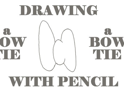 How to draw a BOW TIE Step by Step EASY-cartoon BOW TIE, draw easy stuff but cool with pencil